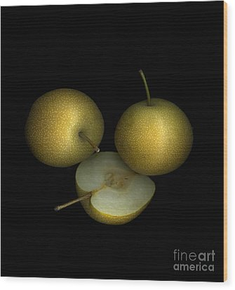 Asian Pears Wood Print by Christian Slanec