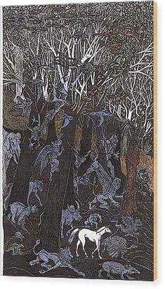 Asil In Shitaki Forest Wood Print by Al Goldfarb