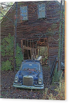 Asleep At The Wheel Wood Print