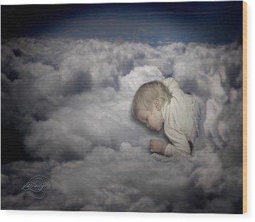 Asleep In The Clouds Wood Print