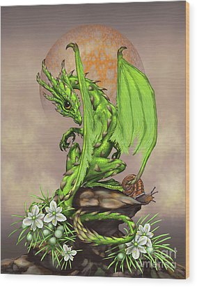 Asparagus Dragon Wood Print by Stanley Morrison