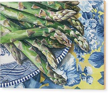 Asparagus Wood Print by Nadi Spencer