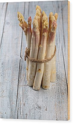 Asparagus Wood Print by Nailia Schwarz