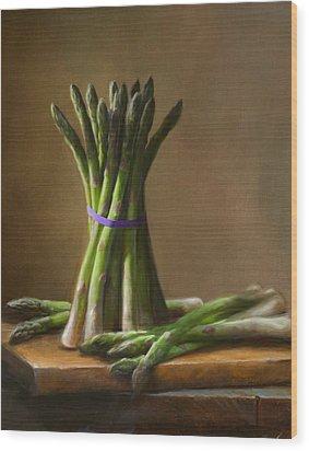Asparagus  Wood Print by Robert Papp
