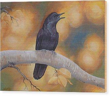 Aspen Aura Wood Print