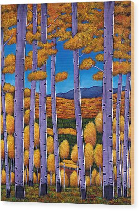Aspen Country II Wood Print by Johnathan Harris