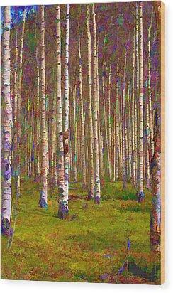Aspen Dawn II Wood Print