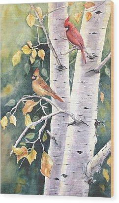 Aspen Light Wood Print by Patricia Pushaw