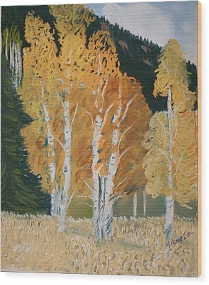 Aspen Sanctuary Wood Print
