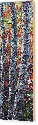 Aspen Up 2 Wood Print