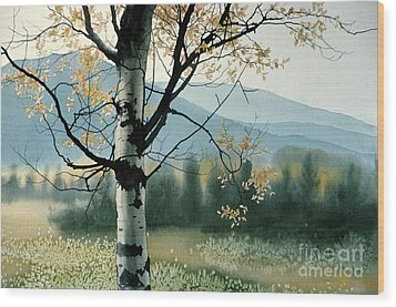 Aspen Valley Wood Print