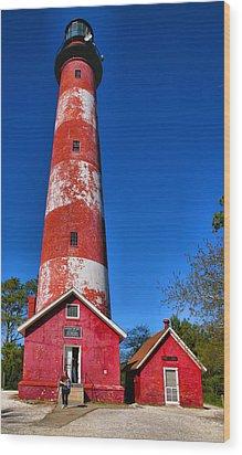 Assateague Light House IIi Wood Print by Steven Ainsworth