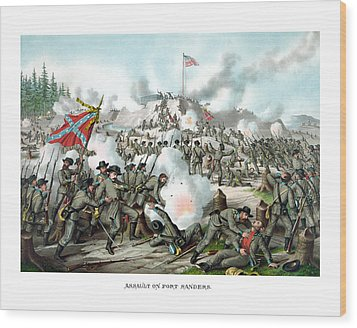 Assault On Fort Sanders Wood Print by War Is Hell Store