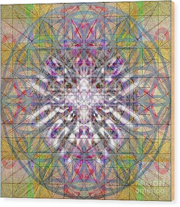 Assent From The Womb In The Flower Tree Of Life Wood Print by Christopher Pringer