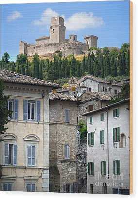 Assisi Italy - Rocca Maggiore - 02 Wood Print