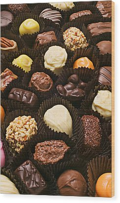 Assorted Candy Wood Print by Garry Gay