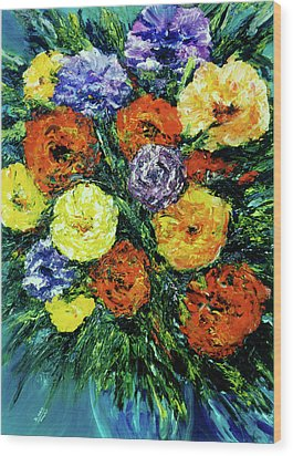 Assorted Flowers #191 Wood Print by Donald k Hall