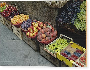 Assorted Fresh Fruits Of Berries Wood Print by Todd Gipstein