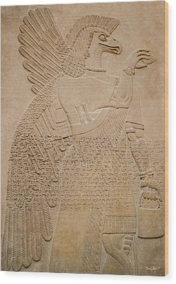 Assyrian Guardian Wood Print