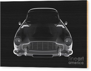 Aston Martin Db5 - Front View Wood Print