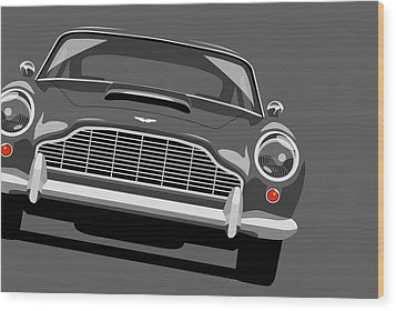 Aston Martin Db5 Wood Print by Michael Tompsett