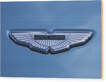Aston Martin Wood Print by Scott Carruthers
