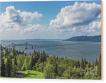 Astoria - Megler Bridge Wood Print by Jon Burch Photography