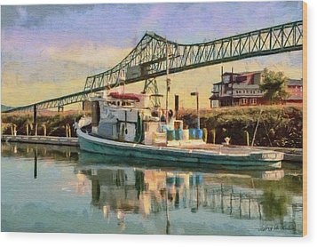 Astoria Waterfront, Scene 1 Wood Print by Jeff Kolker