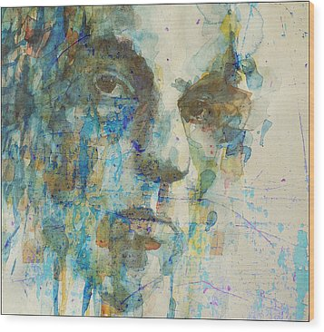 Wood Print featuring the mixed media Astral Weeks by Paul Lovering
