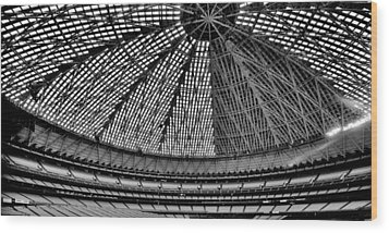 Wood Print featuring the photograph Astrodome 8 by Benjamin Yeager