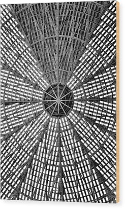 Wood Print featuring the photograph Astrodome 9 by Benjamin Yeager