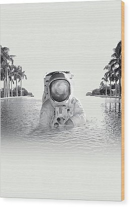 Astronaut Wood Print by Fran Rodriguez