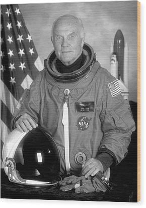 Astronaut John Glenn Wood Print by War Is Hell Store