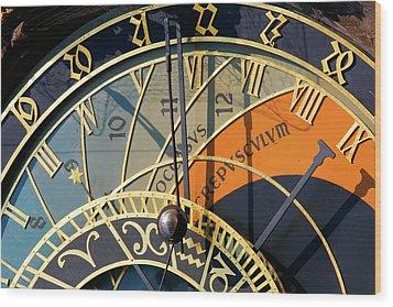 Astronomical Clock Prague Wood Print by KG Thienemann