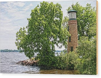Asylum Point Lighthouse 1 Wood Print