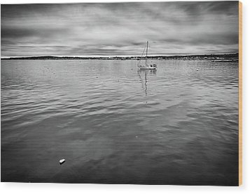 Wood Print featuring the photograph At Anchor In The Harbor by Rick Berk