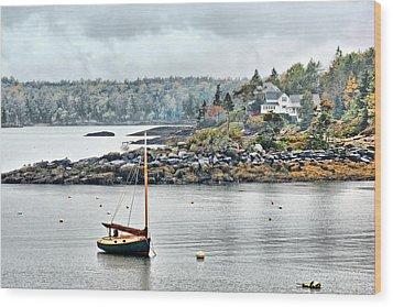 At Anchor - Maine Wood Print