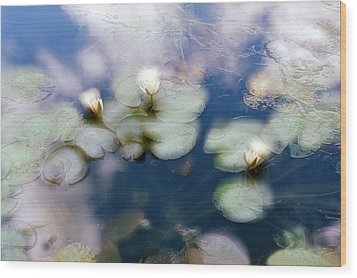 Wood Print featuring the photograph At Claude Monet's Water Garden 4 by Dubi Roman