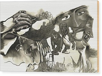 At Ease Never Wood Print by Valera Ainsworth