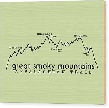 At Elevation Profile Gsm Wood Print by Heather Applegate