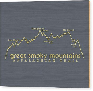 At Elevation Profile Gsm Mustard Wood Print by Heather Applegate