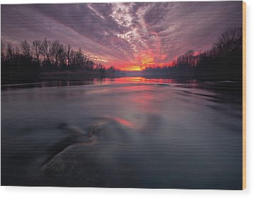 Wood Print featuring the photograph At End Of The Day by Davorin Mance