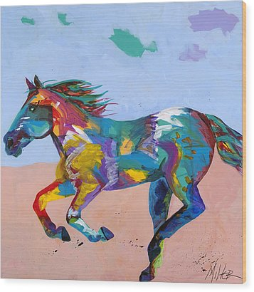 At Full Gallop Wood Print by Tracy Miller