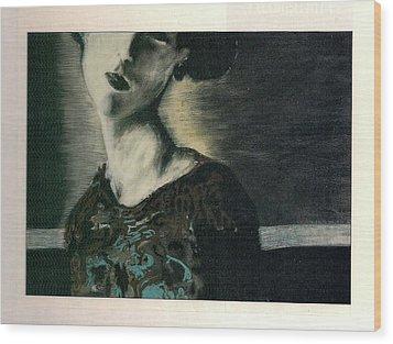 At Her Gaze Wood Print