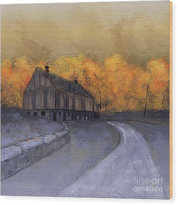 Wood Print featuring the digital art At Just Dawn by Lois Bryan