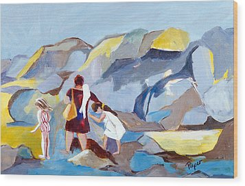 At Laguna Beach Wood Print by Betty Pieper