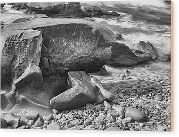 At Low Tide Wood Print by Joseph S Giacalone