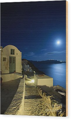 Wood Print featuring the photograph At Midnight by Aiolos Greek Collections