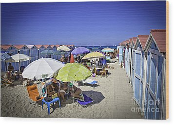 At Mondello Beach - Sicily Wood Print by Madeline Ellis
