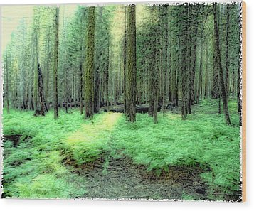 At Peace Wood Print by Michael Cleere